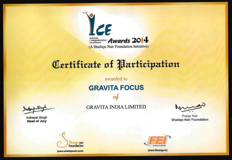 Gravita Focus rewarded