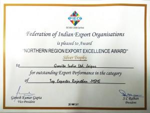 Silver Trophy Certificate
