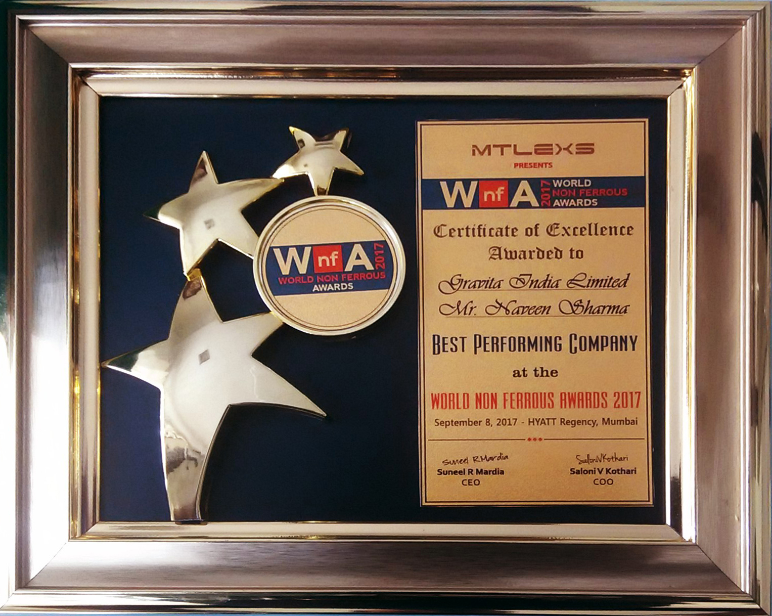World Non ferrous Metal Award