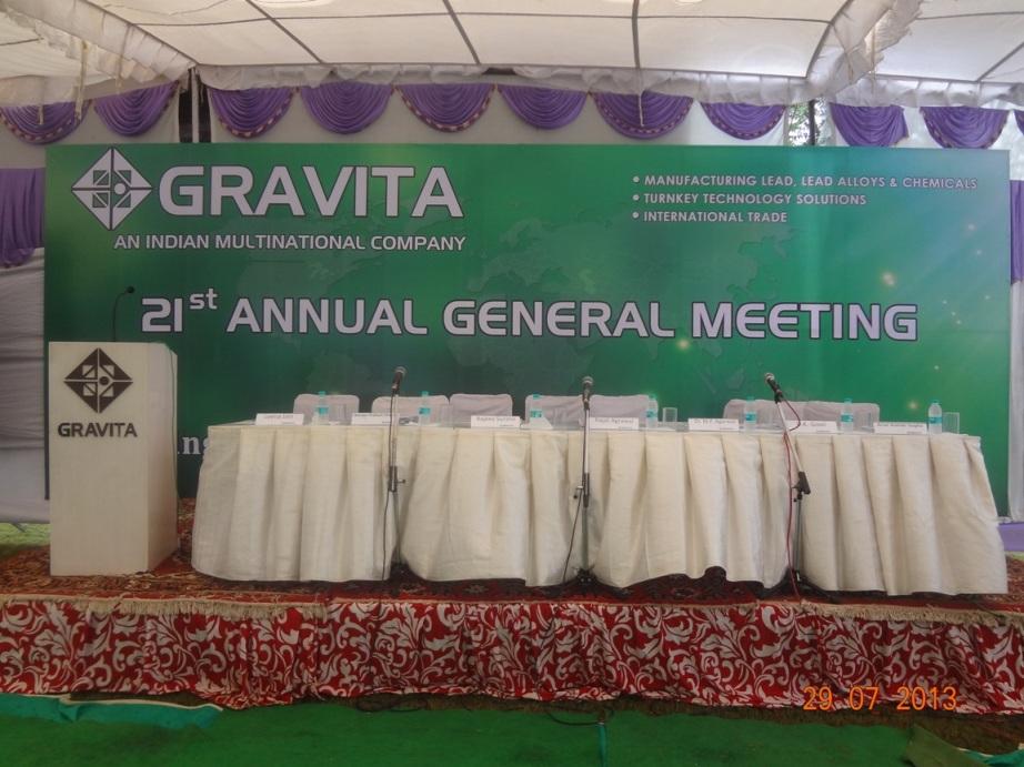 Gravita 21st Annual General Meeting