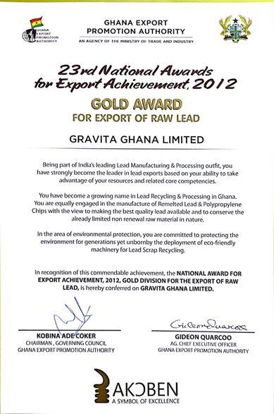 Gravita Ghana Award 2013