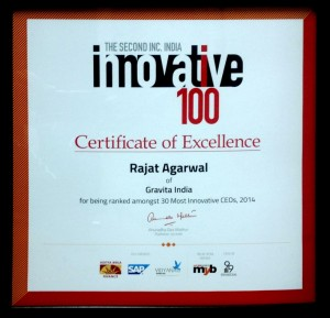 Rajat Agrawal - Top 30 most innovative CEOs in India