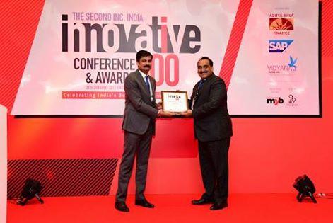 Innovative 100 Award by Inc. India Magazine