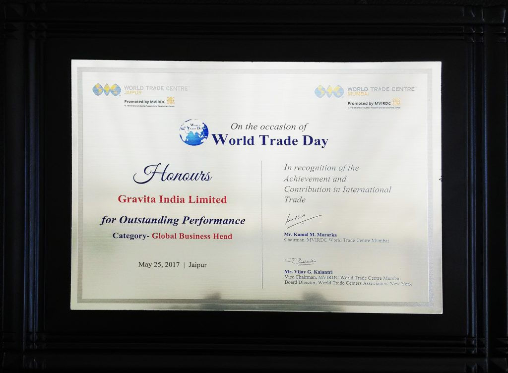 World Trade Centre Association Award